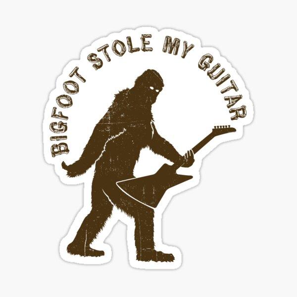 Bigfoot Stole My Guitar Sticker