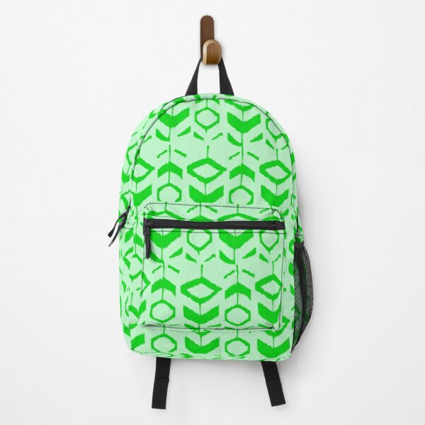 Green flower pattern with green background Backpack