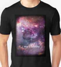 Space cat sees you sinning Unisex T-Shirt