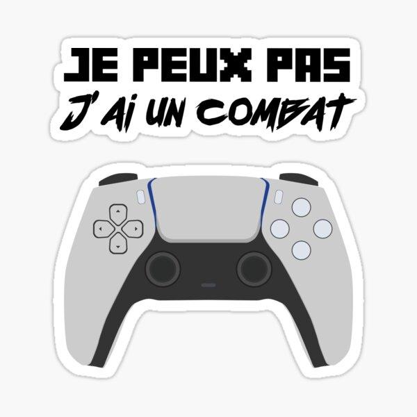 je peux pas manette combat jeux vidéo Sticker