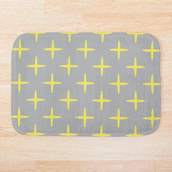 Bod (Gray/Yellow) Bath Mat