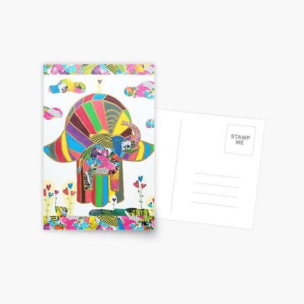 Elephant Hamsa by Harriette Knight Postcard