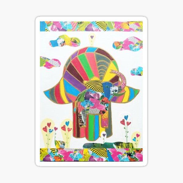 Elephant Hamsa by Harriette Knight Sticker