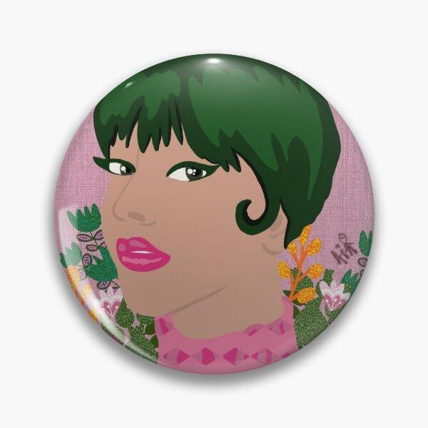 Green hair girl Pin