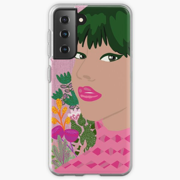Green hair girl Samsung Galaxy Soft Case