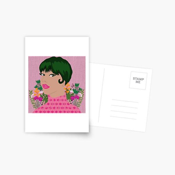 Green hair girl Postcard