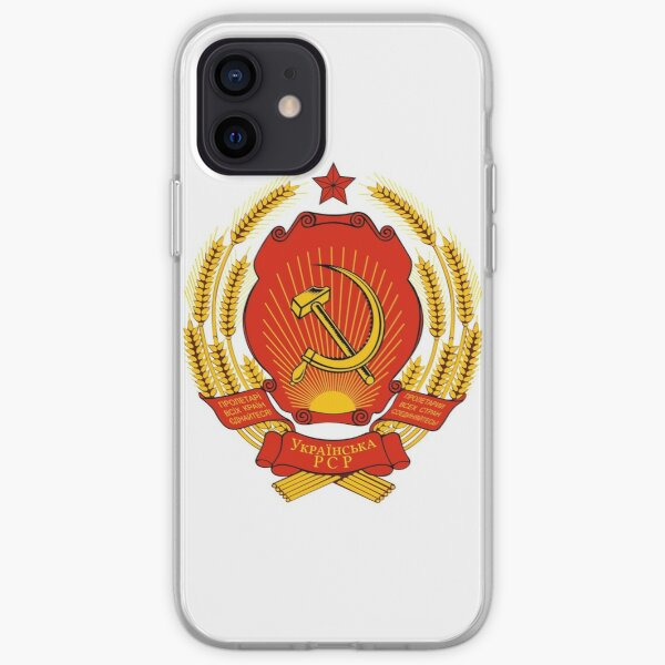 Ukrainian SSR Emblem iPhone Soft Case