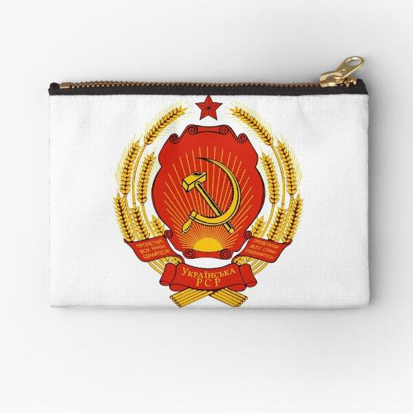Ukrainian SSR Emblem Zipper Pouch