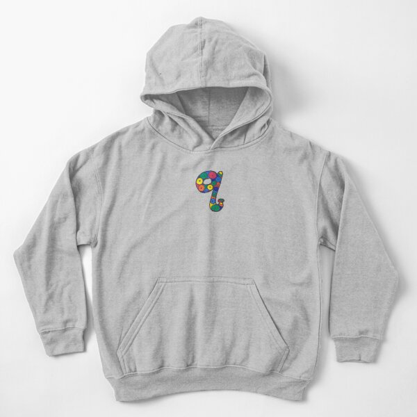 letter q in colorful circles Kids Pullover Hoodie