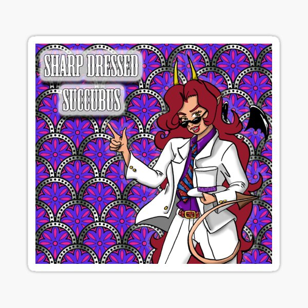 Keisuma: Sharp Dressed Succubus Sticker