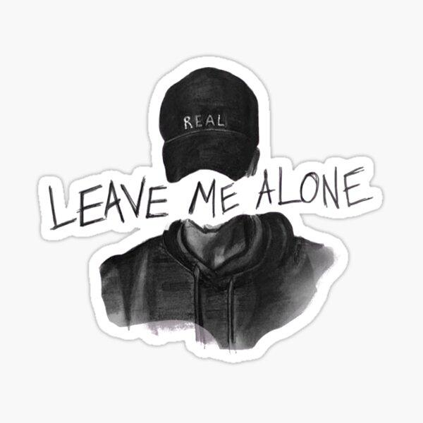 NF Leave Me Alone Lyrics Sticker