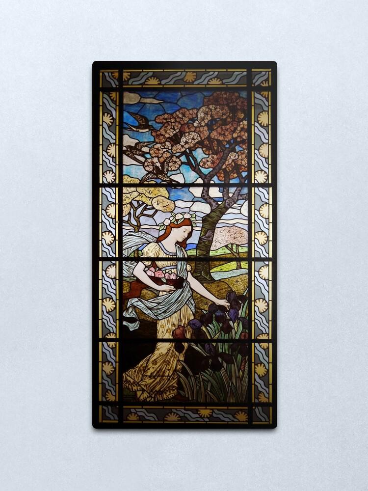 Alternate view of Art Nouveau Spring by Eugène Grasset Metal Print
