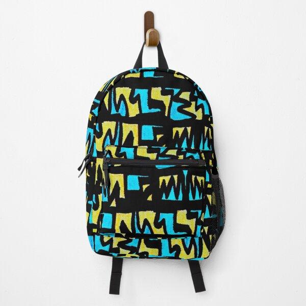 Graffiti Style yellow blue Backpack
