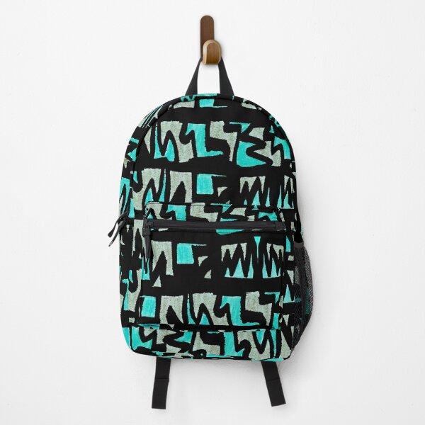 Graffiti Style Green Backpack