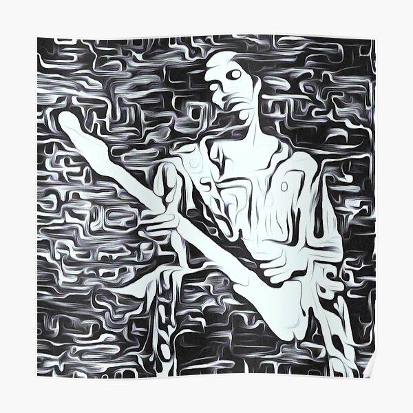 Jimi Hendrix Var. 2   Haute qualité   dessin numérique original par Aryan Shahabian Poster