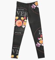 Ever Lasting [Floral Chalkboard] Leggings