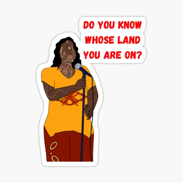 Do you know whose land you are on? Sticker