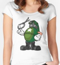 Marcus Munitions Grenade - Borderlands 2 (Large) Women's Fitted Scoop T-Shirt