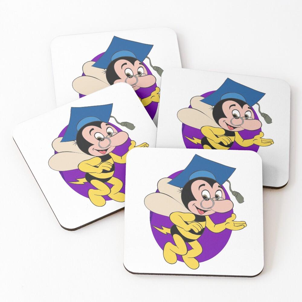 Professor BEEtoven Coasters (Set of 4)