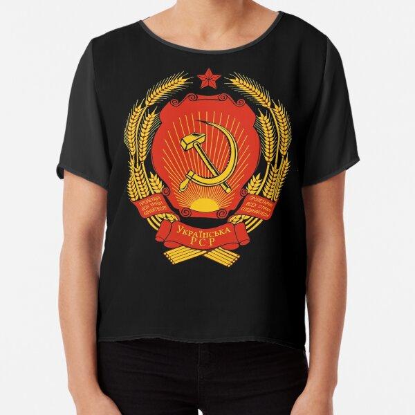 Ukrainian SSR Emblem Chiffon Top