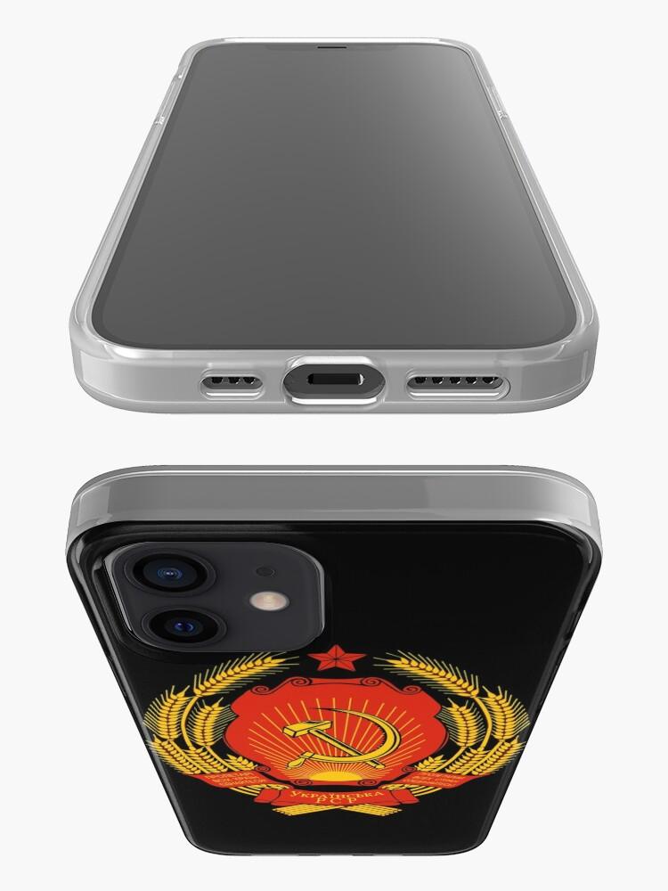Alternate view of Ukrainian SSR Emblem iPhone Case