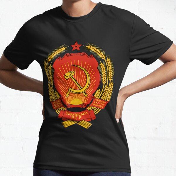 Ukrainian SSR Emblem Active T-Shirt