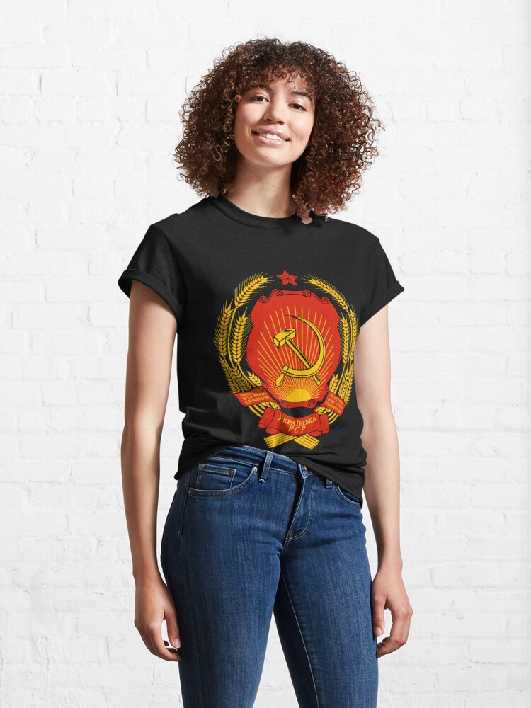 Alternate view of Ukrainian SSR Emblem Classic T-Shirt