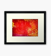 Grungy Orange and Yellow  Framed Print
