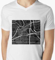 Fort Worth Map - Black T-Shirt
