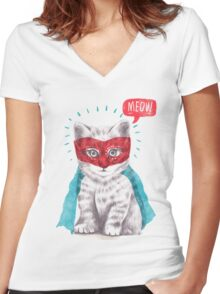 At Your Service Women's Fitted V-Neck T-Shirt