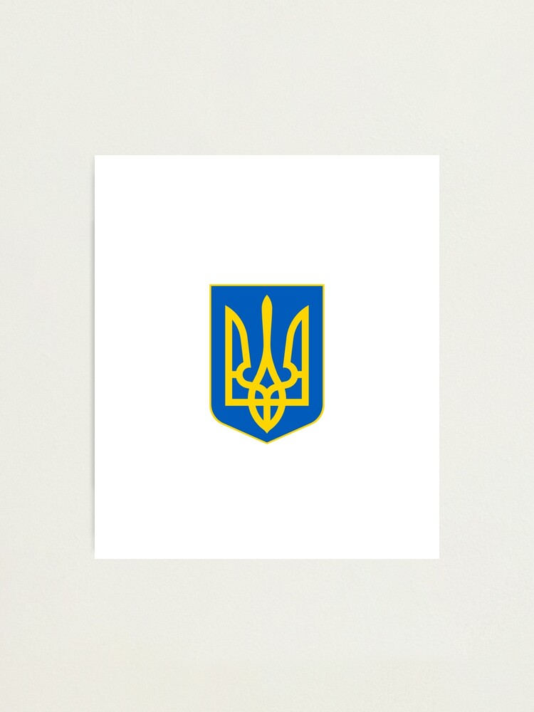 Alternate view of The state coat of arms of Ukraine, officially referred to as the Sign of the Princely State of Vladimir the Great or commonly the Tryzub Photographic Print