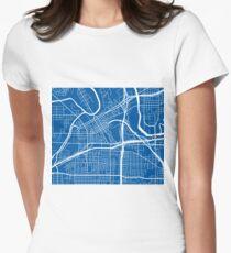 Fort Worth Map - Deep Blue T-Shirt