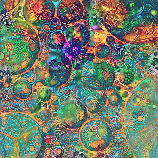 Deepdream floral fractalize space abstraction