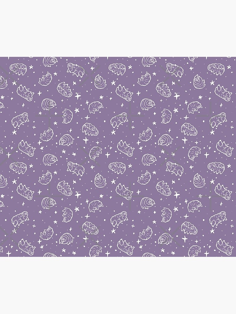 Tardigrades in Space (lavender) by PicajoArt