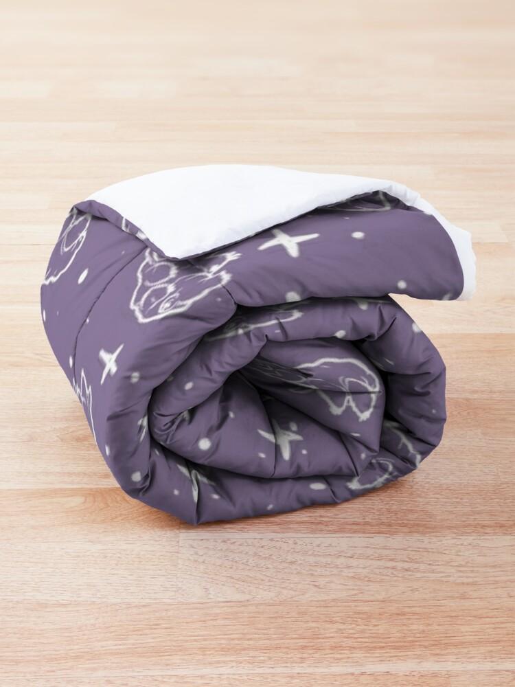 Alternate view of Tardigrades in Space (lavender) Comforter