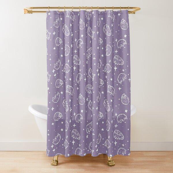 Tardigrades in Space (lavender) Shower Curtain