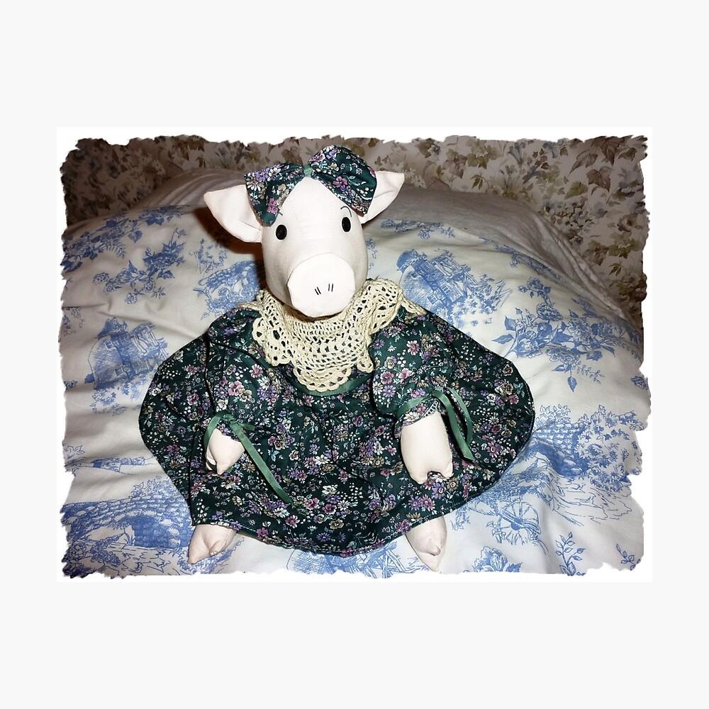 Miss Piggy - sitzt auf meinem Bett Fotodruck