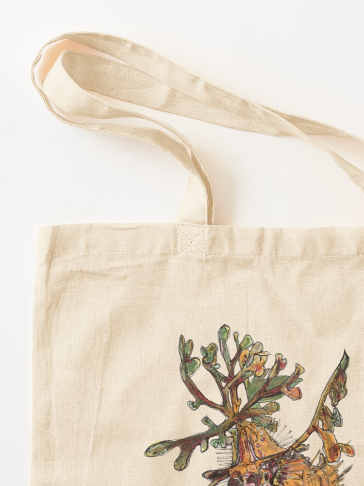Alternate view of Carlee the Leafy Sea Dragon Tote Bag