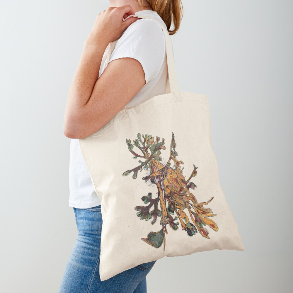 Carlee the Leafy Sea Dragon Tote Bag