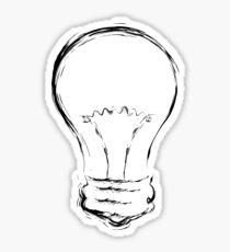 Line Art of Lightbulb Sticker