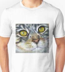 Blink Macro Cat Painting Unisex T-Shirt