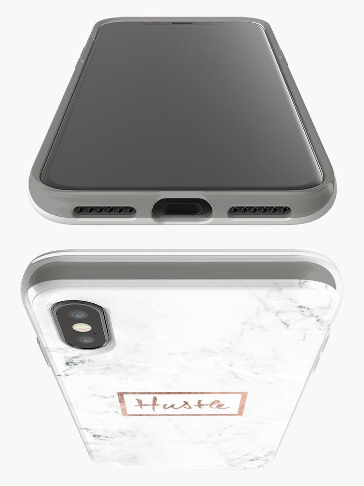 Alternative Ansicht von Moderner Hustle Typography Roségold weißer Marmor iPhone-Hülle & Cover