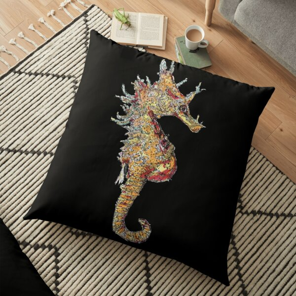 Di the Seahorse  Floor Pillow