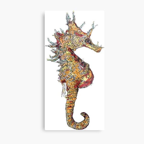 Di the Seahorse  Metal Print