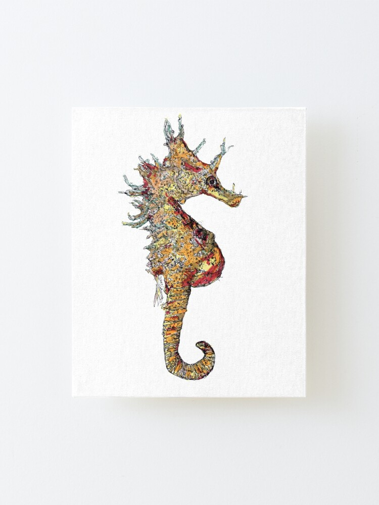 Alternate view of Di the Seahorse  Mounted Print