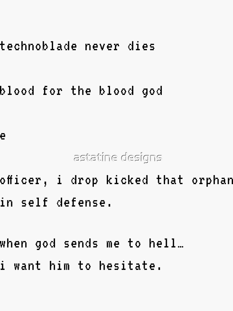 technoblade quotes by honeystickers42