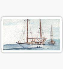 Sailing off the West Coast Sticker
