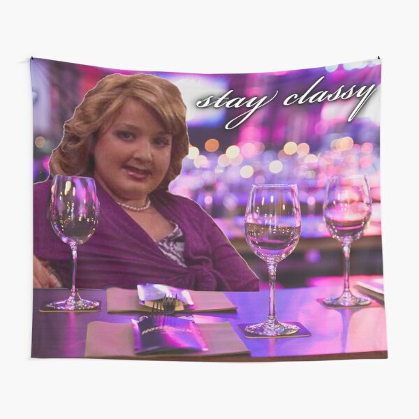 girl gibby at the bar: stay classy Tapestry