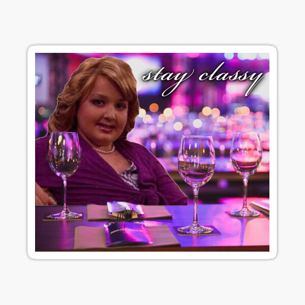 girl gibby at the bar: stay classy Sticker