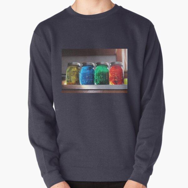 Colorful Mason Jars Pullover Sweatshirt